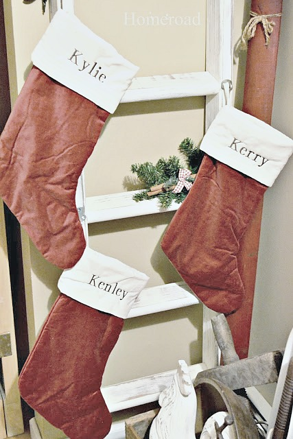 Stocking ladder to hang stockings at Christmas