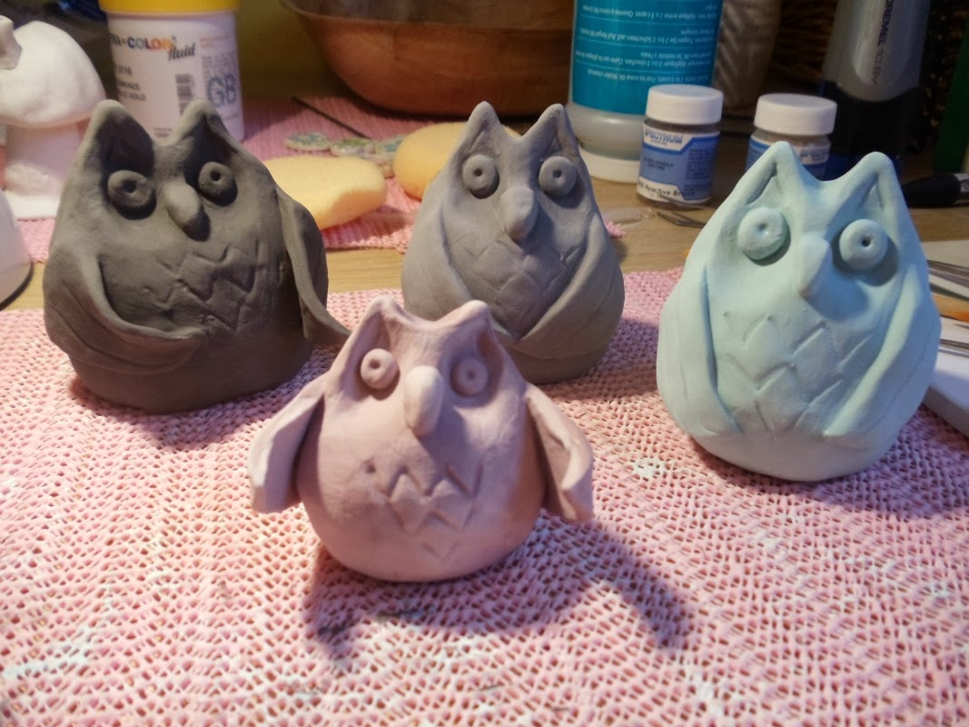 How to make a ceramic clay owl