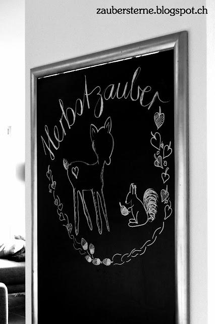 Herbstzauber, Chalkboard saisonal, Kreativblog Schweiz