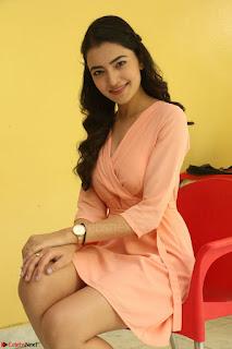 Rukshar Mir in a Peachy Deep Neck Short Dress 025.JPG