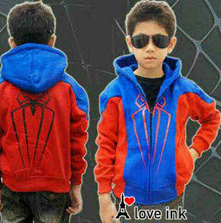 Jaket Anak Spiderman Blue - Harga Saudara