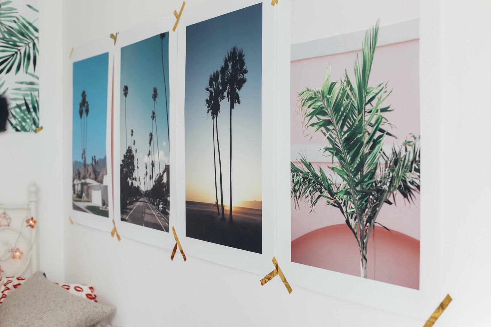 usa prints on wall
