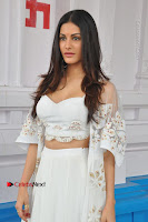 Telugu Actress Amyra Dastur Stills in White Skirt and Blouse at Anandi Indira Production LLP Production no 1 Opening  0018.JPG