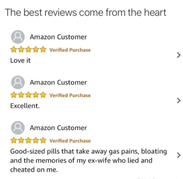 The best reviews come from the heart