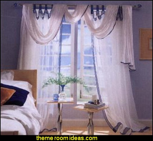 Curtains, Draperies & Shades  window treatments - curtains - window decorations - sheers - Drapes & Valance Sets - ruffled curtains - cornice - window murals - do-it-yourself window ideas - Room Dividers