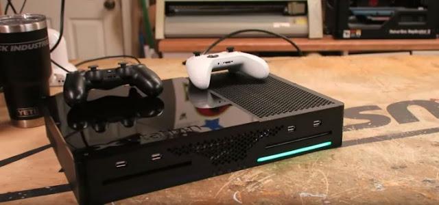 Hombre genio: junto XBOX y PS4 en una misma consola