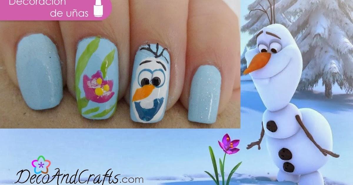 Decoandcrafts Com Olaf Frozen Nails