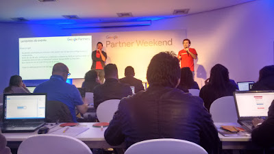 Aula de Google Fundamentals no Google Partner Weekend