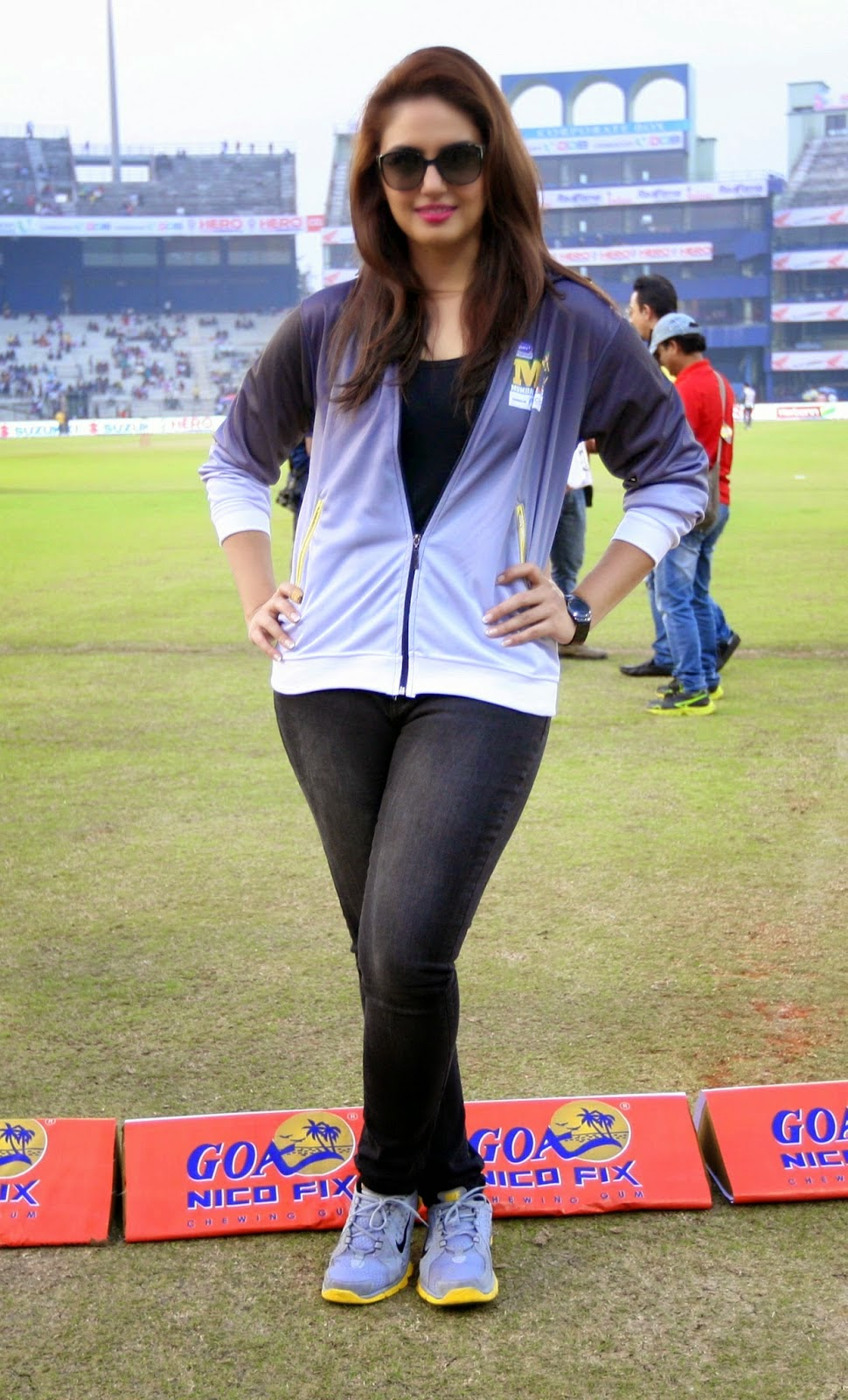 Hot Huma Qureshi At Ccl Cricket  Cute Marathi Actresses -3967