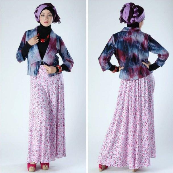 46 Model Baju Batik Dress Panjang Muslim Modern Masa Kini ...