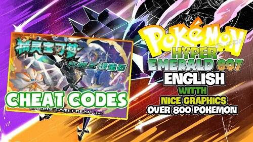 Pokemon Hyper Emerald 807 English Patched Cheat Codes