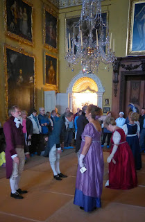 A reenactment of Frances Bankes' ball  at Kingston Lacy (2013)