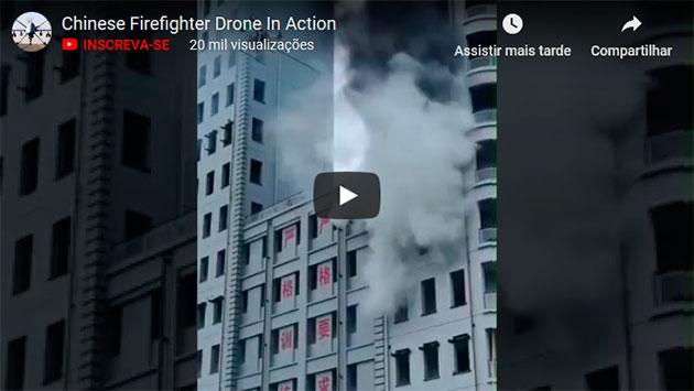 COMO ACABAR COM UM INCÊNDIO COM A AJUDA DE DRONES