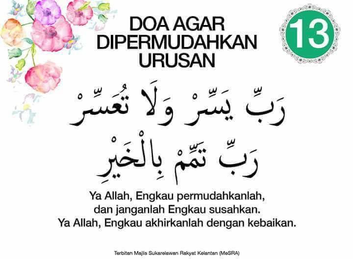 doa agar dipermudahkan urusan