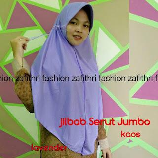 jilbab fatin serut jumbo bahan kaos