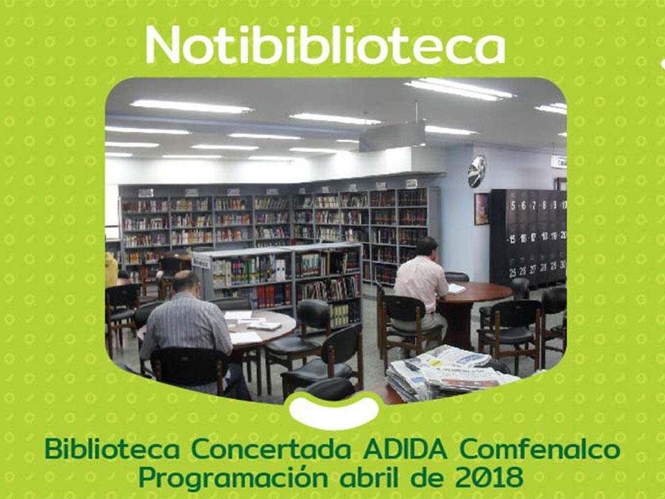 Programación Abril 2018 Biblioteca concertada ADIDA Comfenalco