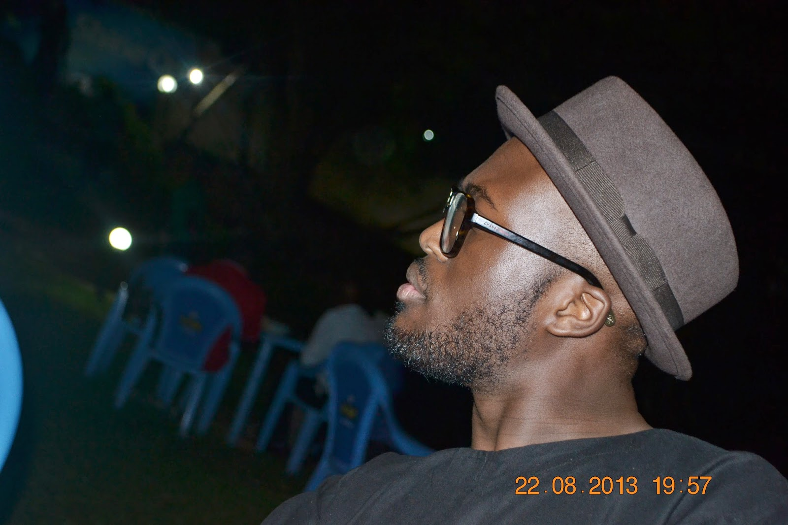 Black Boy with Glasses Beard and Hat Sideview