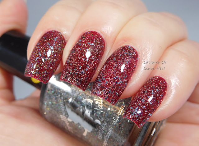 Spellbound Nails Silver Bells over Zoya Courtney