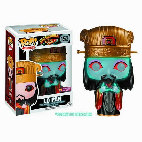 "Previews Exclusive Big Trouble In Little China ""Ghost"" Lo Pan Glow in the Dark Pop! Movies Vinyl Figure by Funko"