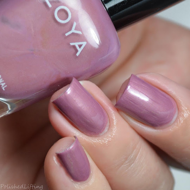 dusty pink creme nail polish