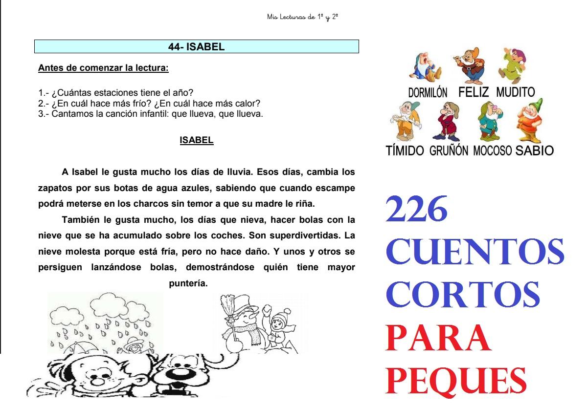 226 Cuentos Cortos Para Los Más Peques Del Colegio Pdf Aula Virtual Primaria