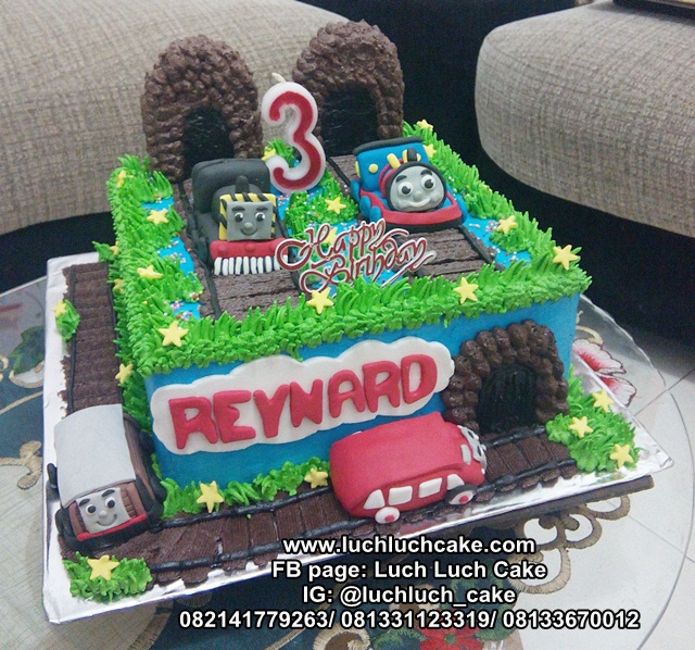 Kue Tart Thomas and Friends Kereta Api