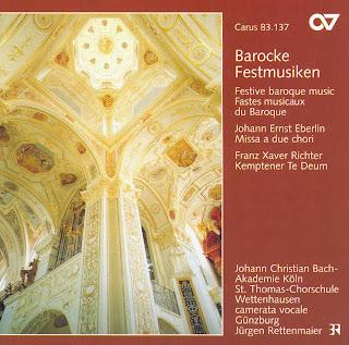 Eberlin: Missa A 2 Chori / Richter, F.: Te Deum