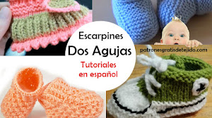 Escarpines para Bebes Tejidos en Dos Agujas / 8 Tutoriales en Español