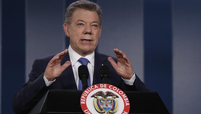 Presidente Santos gana Nobel de Paz 2016