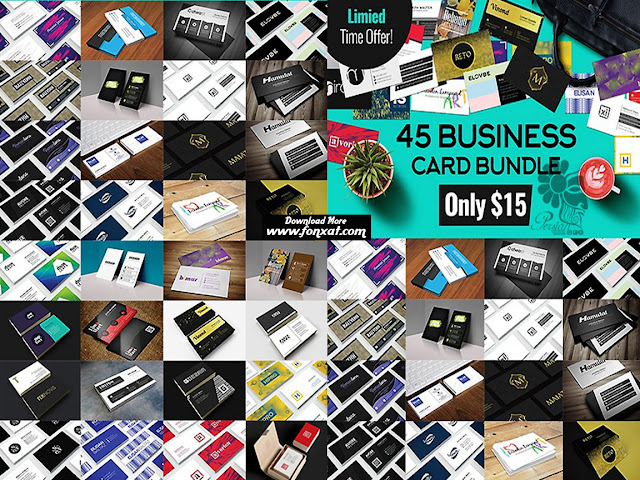 Download open 45 image layers varied business cards - CM 45 Business Card Bundle