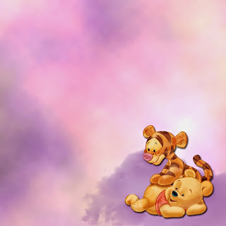 Baby Winnie the Pooh: Free Printable Frames, Cards or Invitations.