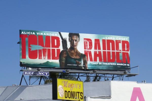 Tomb Raider movie billboard