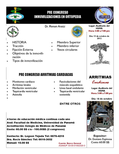 DR  GUSTAVO ESPINOSA: Precongreso de Arritmias Cardiacas