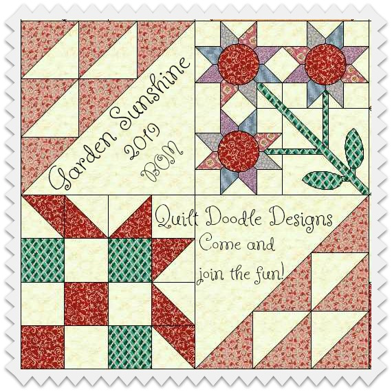 Quilt Doodle 2019 Block of the Month