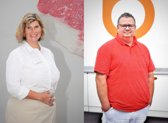 Fleisch-Sommelière Astrid Gräfin zu Münster und ihr Chef Christian Beisiegel
