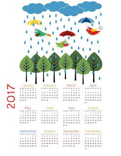 2017カレンダー無料テンプレート38