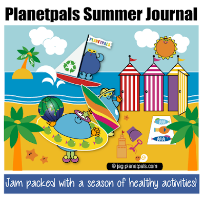 Have a healthy Happy Summer with Planetpals Eco Journal Ideas and Activities for the whole family!
