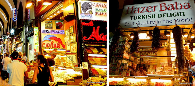 Lojas do Bazar Egípcio de Istambul, Turquia