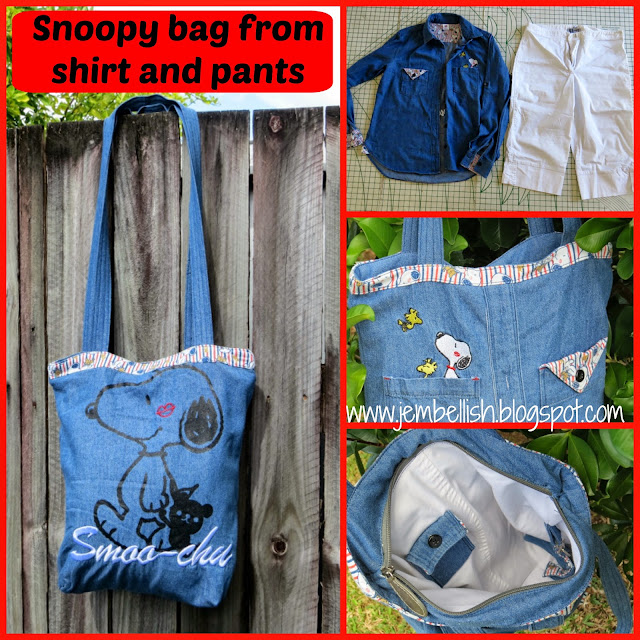 Snoopy Bag from shirt and pants