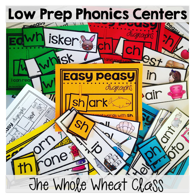 Easy print, cut, and do phonics centers. Make great word work centers, word wall/focus wall displays, and small group instruction activities. Easy Peasy!