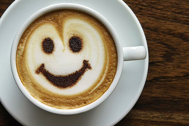 Smile in a coffee