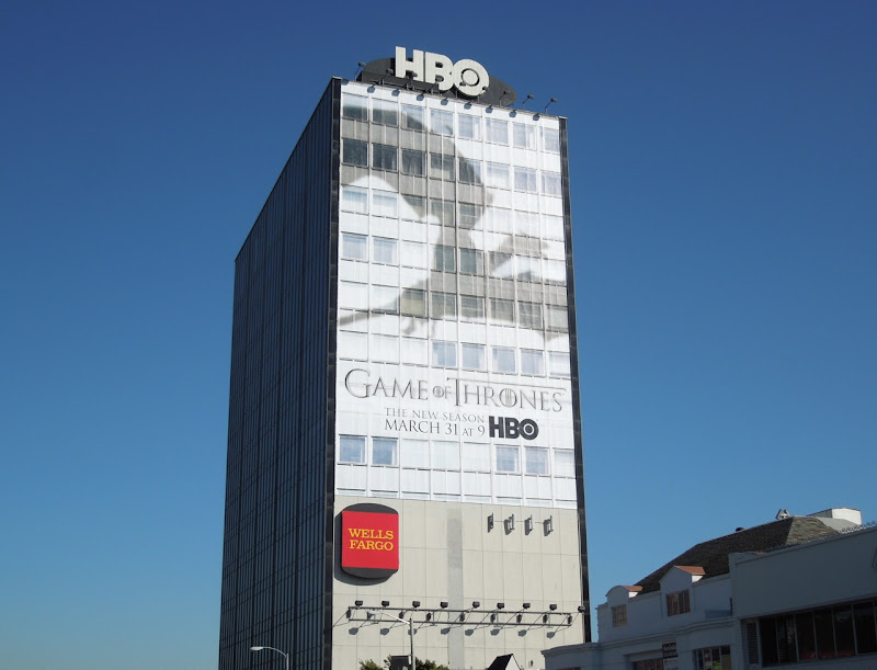 Giant Game of Thrones dragon shadow season 3 billboard