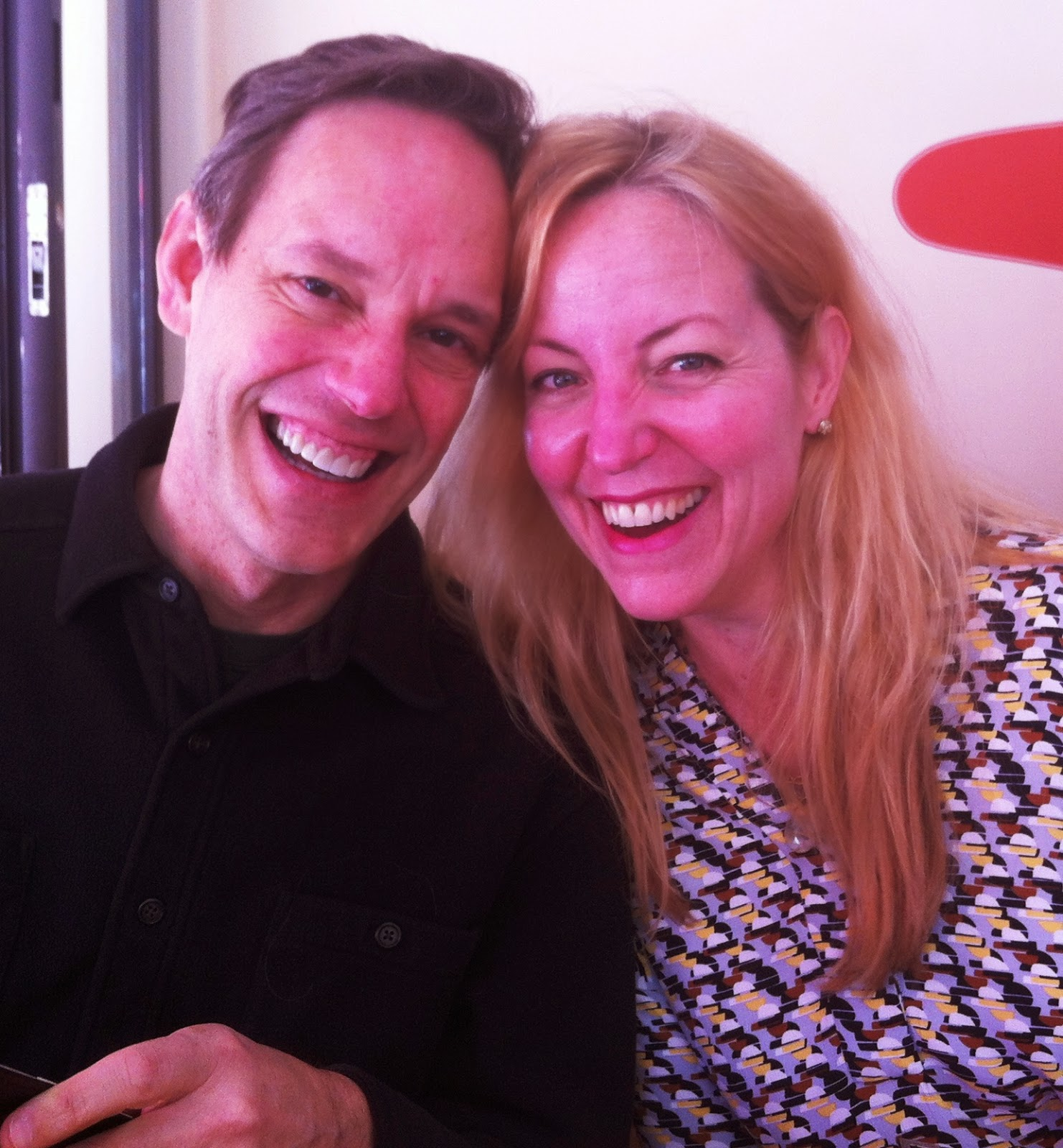 Composer Jake Heggie (left) and soprano Lise Lindstrom (right) in San Francisco, March 2015