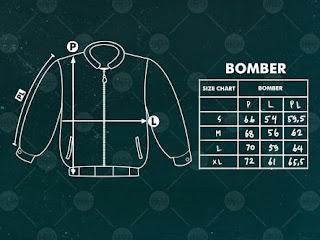 size chart jaket bomber