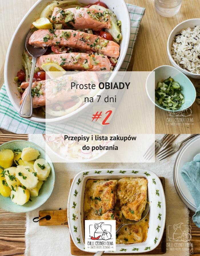 Proste obiady na 7 dni #2 - z kurczakiem i rybą + PDF do pobrania!