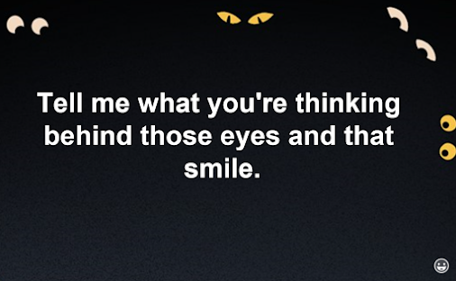 Tell me what you're thinking behind those eyes and that smile. - #livinMicro #FairlyAdept #soWrongItsWrite...