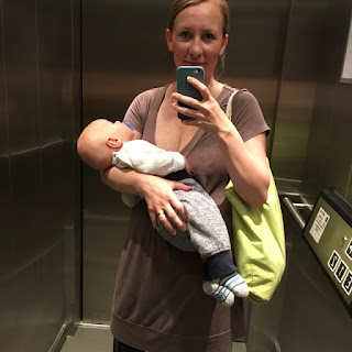 Selfie im Aufzug