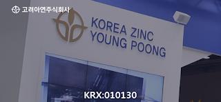 KRX: 010130 고려아연 주식 시세 주가 그래프, 단위: %, 高麗亞鉛, Korea Zinc stock price chart