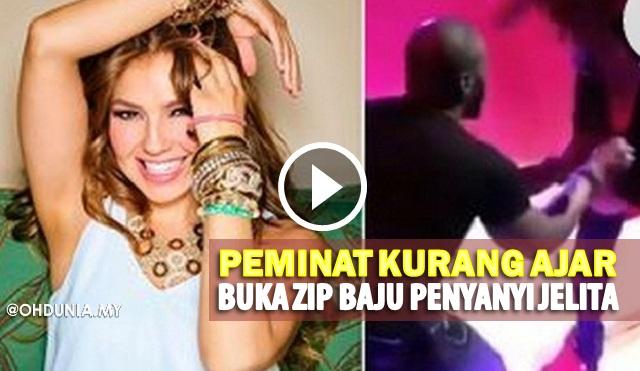 Video: Peminat Kurang Ajar Buka Zip Belakang Penyanyi Jelita