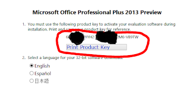 key of office 2013